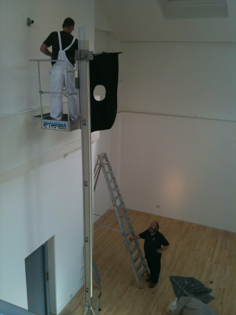 Installation of Masters Show, Talbot Rice Gallery, June 2010